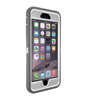 OtterBox iPhone 6 Plus Case - OtterBox Defender Series, Frustration-Free Packaging - GLACIER (WHITE/GUNMETAL GREY)(5.5 inch)