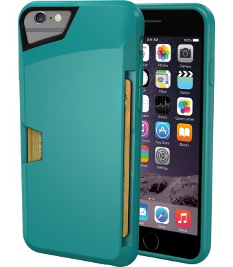 "iPhone 6 Wallet Case - Vault Slim Wallet for iPhone 6 (4.7"" ) by Silk - Ultra Slim Protective Wallet Cover (Pacific Green)"