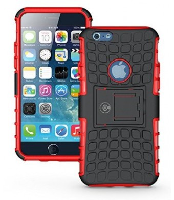 iPhone 6 Case, iPhone 6 Armor cases- [iPhone 6 - 4.7] Tough Armorbox Dual Layer 2 in 1 Rugged Hybrid Hard/Soft Drop Impact Resistant Protective Case