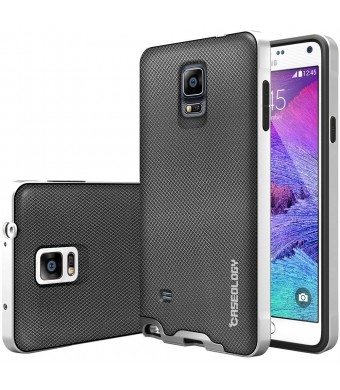 Galaxy Note 4 case, Caseology [Envoy Series] [Metallic Mesh Silver] Premium Leather Bumper Cover [Leather Bound] Samsung Galaxy Note 4 case