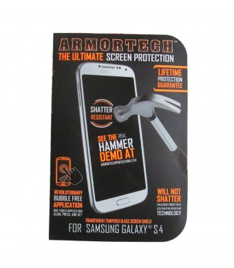 Armortech the Ultimate Screen Protection - Shatter Resistant Screen Shield for Samsung Galaxy S4