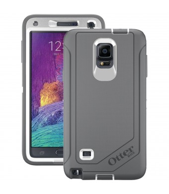 OtterBox Samsung Galaxy Note 4 Case Defender Series - Retail Packaging - Glacier (White/Gunmetal Grey)