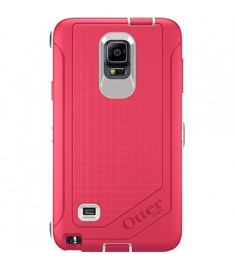 OtterBox Samsung Galaxy Note 4 Case Defender Series - Retail Packaging - Neon Rose (Whisper White/Blaze Pink)