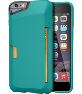 "iPhone 6 Plus Wallet Case - Vault Slim Wallet for iPhone 6 Plus (5.5"" ) by Silk - Ultra Slim Protective Credit Card Carrying Cover (Pacific Green)"
