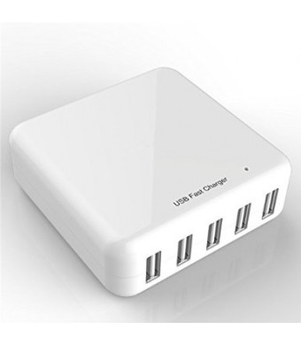 Bear Motion 30W 5 Ports Smart USB Desktop Rapid Charger Station with Smart Defect Technology for iPhone 6 iPhone 6 Plus iPhone 5s 5c 5; iPad Air mini