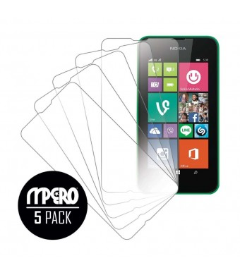 Nokia Lumia 530 Screen Protector Cover, MPERO Collection 5 Pack of Ultra Clear Screen Protectors for Nokia Lumia 530