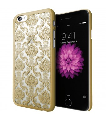 iPhone 6 Plus Case, Cimo [Damask] Apple iPhone 6 Plus Case Design Pattern Premium ULTRA SLIM Hard Cover for Apple iPhone 6 Plus (5.5) - Gold