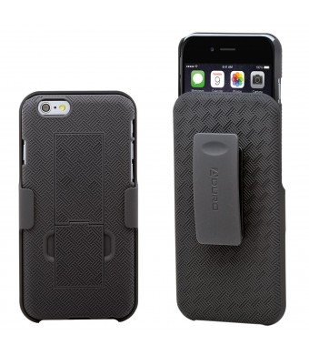 "Aduro Shell Holster Combo Case for Apple iPhone 6 4.7""  Screen Size with Kick-Stand and Belt Clip (Atandt, Verizon, T-Mobile and Sprint)"