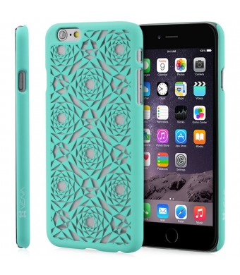 "iPhone 6 Plus Case - VENA [TACT] Ultra Slim Fit Hard Polygon Design Pattern Cover for Apple iPhone 6 Plus (5.5"" ) - Teal"