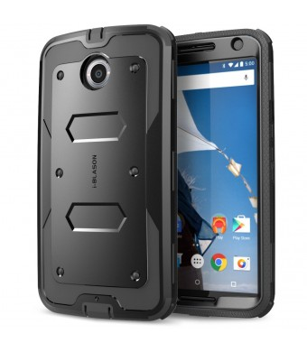 Nexus 6 Case, [Heave Duty] **Slim Protection** i-Blason Google Nexus 6 Phone Case Armorbox [Dual Layer] Hybrid Full-body Protective Case with Front C
