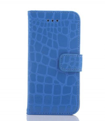 Idol iPhone 6 4.7 Crocodile Fashion All-match Protective Cell Phone Case Cover Credit ID Holder Money Pockets and Detachable for Apple Case (Blue)