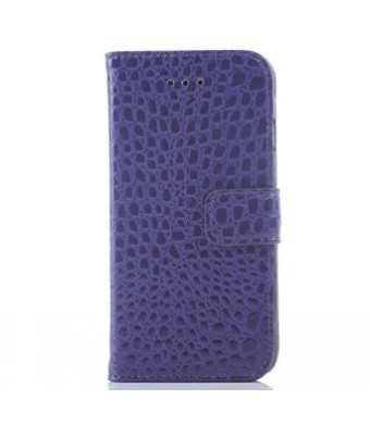 Idol iPhone 6 4.7 Crocodile Fashion All-match Protective Cell Phone Case Cover Credit ID Holder Money Pockets and Detachable for Apple Case (Purple)