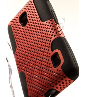 ShockWize (TM) Tactical Series LG Optimus F6 D500 Ribcage Shell Net Combo Armor Protector Cover Case Dual Layer Shock Absorbing Rigid Hybrid (T-Mobil