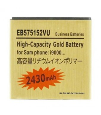 2430mAh EB575152VU High Capacity Gold Battery for Samsung Galaxy S / i9000 by Online-Enterprises