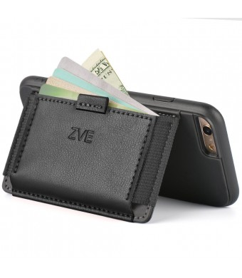 """iPhone 6 Wallet Case - Leather Case for iPhone 6 (4.7"""" ) by ZVE Ultra Slim Protective Apple iPhone 6 Case 4.7 Inch Slim Leather Wallet Cover with Stand"""