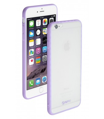 "iPhone 6 case, Nupro Lightweight Projective Bumper Case Cover for Apple iPhone Plus (4.7""  screen) - Clear/Purple"