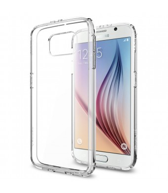 Galaxy S6 Case, Spigen [AIR CUSHION] Galaxy S6 Case Bumper **NEW** [Ultra Hybrid] [Crystal Clear] - [1 Back Protector Included] Scratch Resistant Bum