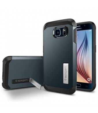 Galaxy S6 Case, Spigen [HEAVY DUTY] Tough Armor Case for Samsung Galaxy S6 [EXTREME PROTECTION] - Retail Packaging - Metal Slate (SGP11336)