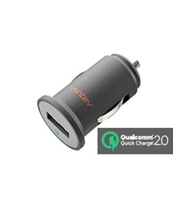 Ventev - dashport q1200 Car Charger with Single USB Port 2Amp, Includes Micro USB Cable