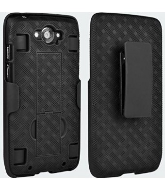 OEM Verizon Shell Holster Belt Clip Case Combo for Motorola Droid Turbo XT1254 - MOTXT1254HOC