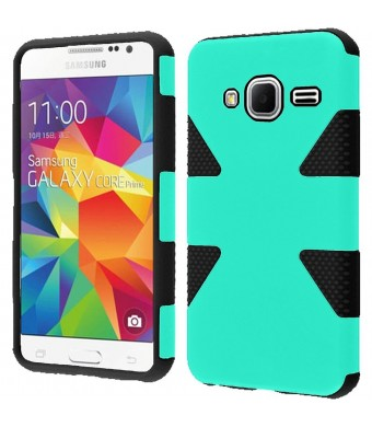 HR Wireless Samsung Galaxy Prevail LTE G360 Core Prime Dynamic Cover Case - Retail Packaging - Teal/Black