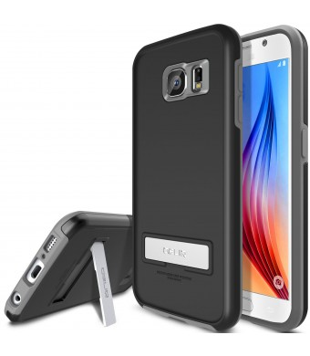 Galaxy S6 Case, OBLIQ [HEAVY DUTY] Samsung Galaxy S6 Cases [SKYLINE ADVANCE][Black/Gray]-TOUGH RUGGED ARMOR Protection
