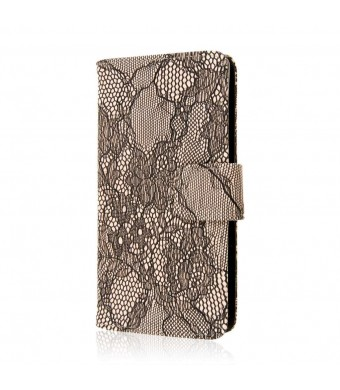 Sony Xperia Z3V Wallet Case, MPERO FLEX FLIP Wallet Case for Sony Xperia Z3V - Black Lace