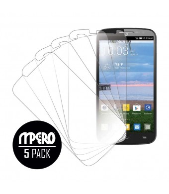 OneTouch POP Mega LTE Screen Protector Cover, MPERO Collection 5-Pack of Ultra Clear Screen Protectors for OneTouch POP Mega LTE