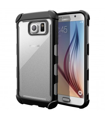 Galaxy S6 Case - Poetic [Affinity Series] - [TPU Grip Bumper] [Corner Protection] Protective Case for Samsung Galaxy S6 (2015) Frost Clear/Black (3-Y