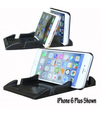New Smart Phone Holder for Large Phones - Angle Viewing or Lay Flat - Great for Iphone 6 Plus, Iphone 6, Galaxy Note Phones, Radar Detectors a Smart