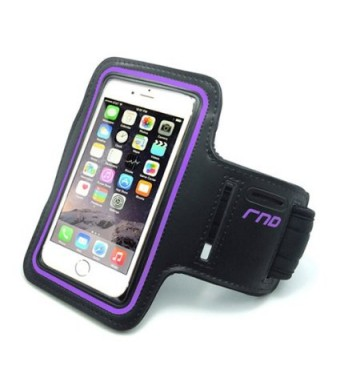 RND Slim-Fit Active Sports Armband Case for iPhone 6 and Samsung Galaxy S4 and S5 (purple)