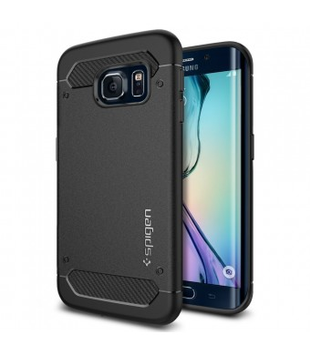 Galaxy S6 Edge Case, Spigen [Resilient] Galaxy S6 Edge Case Impact Protection **NEW** [Capsule Ultra Rugged] [Black] Ultimate protection from drops a