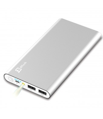 Power Bank, JETech 10,000mAh 2-Output Portable External Power Bank Battery Charger Pack for iPhone 6/5/4, iPad, iPod, Samsung Devices, Smart Phones,