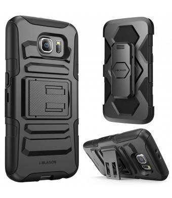 Galaxy S6 Case, i-Blason Prime [Kickstand] Samsung Galaxy S6 2015 Release **Heavy Duty** [Dual Layer] Combo Holster Cover case with [Locking Belt Swi