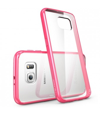 Galaxy S6 Case, [Scratch Resistant] i-Blason **Clear** [Halo Series] Samsung Galaxy S6 Hybrid Bumper Case Cover (Clear/Pink)
