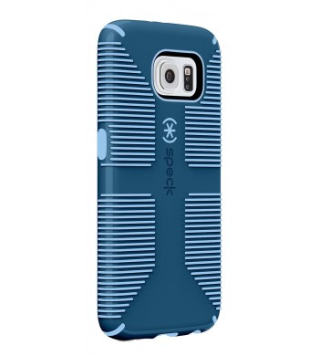 Speck Products CandyShell Grip Case for Samsung Galaxy S6 - Carrying Case - Frustration-Free Packaging - Harbor Blue/Periwinkle Blue