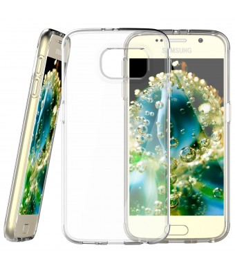 S6 Case, JETech Samsung Galaxy S6 Case Cover Soft Clear Shock-Absorption Bumper for Samsung Galaxy S6 (2015)