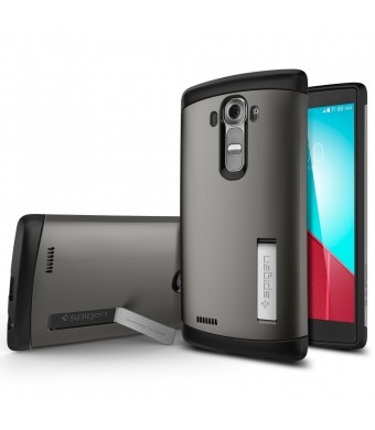 LG G4 Case, Spigen [AIR CUSHION] LG G4 Case Protective **NEW** [Slim Armor] [Gunmetal] Air Cushioned Corners / Dual Layer Protective Case for LG G4 (