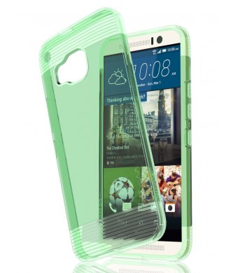 HTC One M9 Case - VENA [vSkin] Ultra Slim Protection [1.0mm Thin] TPU Case Cover for HTC One M9 (Transparent Teal)