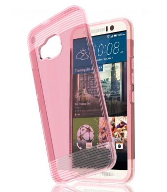HTC One M9 Case - VENA [vSkin] Ultra Slim Protection [1.0mm Thin] TPU Case Cover for HTC One M9 (Transparent Pink)