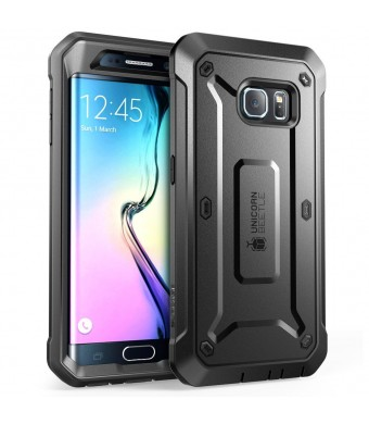 Galaxy S6 Edge Case, SUPCASE Full-body Rugged Holster Case WITH OUT Built-in Screen Protector for Samsung Galaxy S6 Edge (2015 Release), Unicorn Beet
