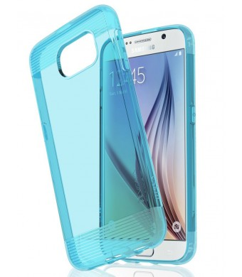 Samsung Galaxy S6 Case - VENA [vSkin] Ultra Slim Protection [1.4mm Thin] TPU Case Cover for Samsung Galaxy S6 (Transparent Blue)