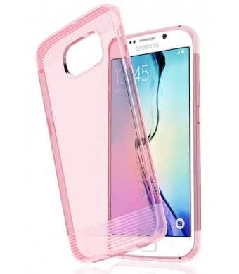 Samsung Galaxy S6 Edge Case - VENA [vSkin] Ultra Slim Protection [1.4mm Thin] TPU Case Cover for Samsung Galaxy S6 Edge (Transparent Pink)