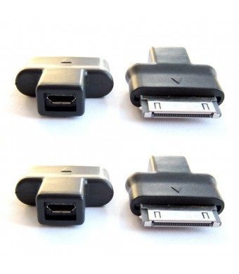 Samsung Galaxy Tab / Note to Micro USB High Speed Charger Converter / Connector / Adapter (Twin Pack)
