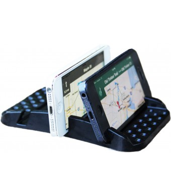 Smart Phone Sticky Pad AND Multiple Angle Viewing. Eliminates glare. Use GPS w/phone . Watch movies. WON BEST NEW DESIGN.