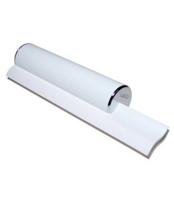 Cleret ELITE Bath and Shower Squeegee with Chrome End Caps and Dual White Cleaning Blades Made in USA