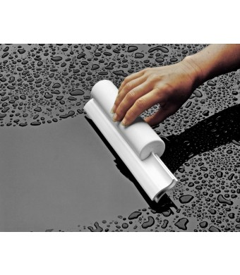 Cleret Dual Bladed Classic Bath Squeegee - All White