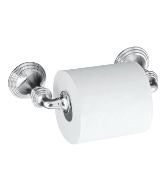 KOHLER K-10554-CP Devonshire Toilet Tissue Holder, Double Post, Polished Chrome