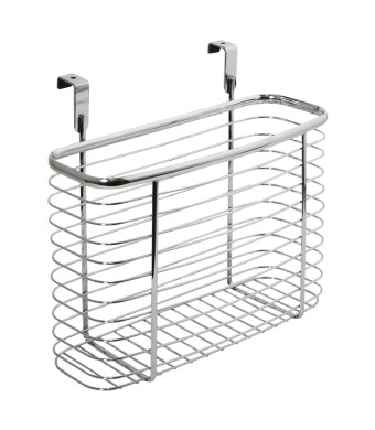 InterDesign Axis Over the Cabinet, X5 Basket, Chrome