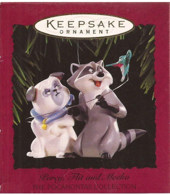 Hallmark Keepsake Ornament - Percy, Flit, and Meeko From The Pocahontas Collection 1995 (QXI6179)